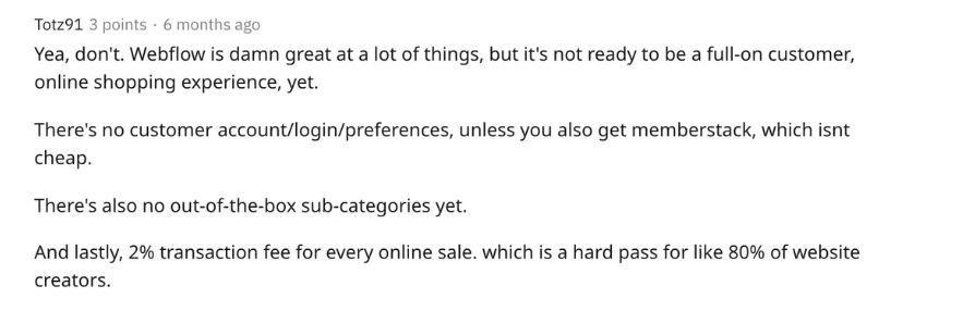 Squarespace-vs-Webflow-ecommerce-reddit-reviews