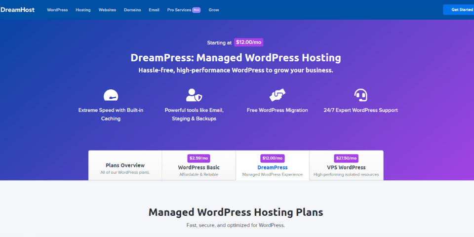 DreamHost for Nonprofits Options