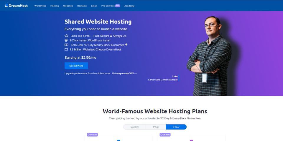 DreamHost Happy Hosting Review Features