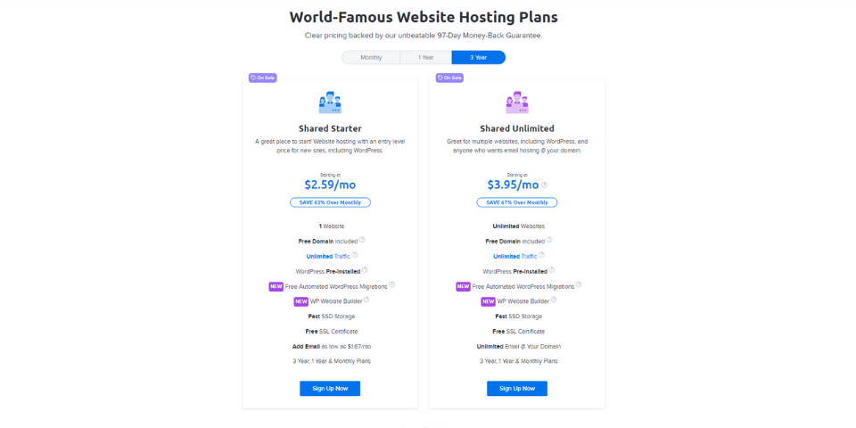 DreamHost Happy Hosting Review Pricing
