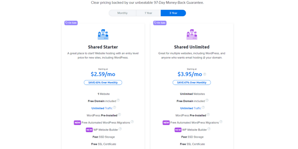 DreamHost vs AWS Pricing