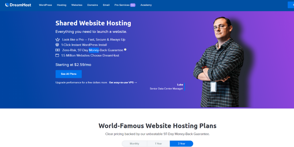 DreamHost vs Bluehost Features