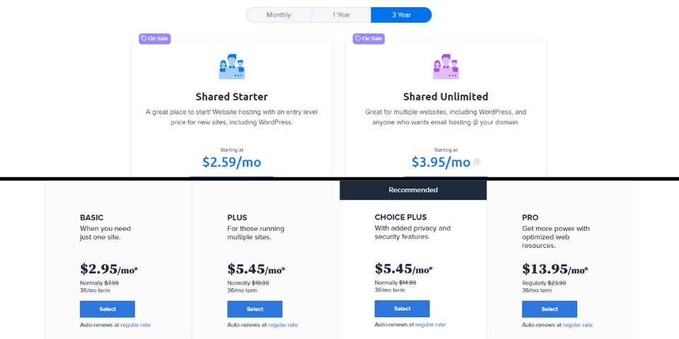 DreamHost vs Bluehost Price