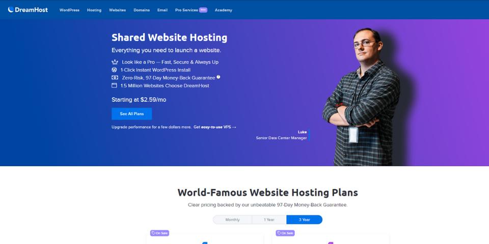 DreamHost WordPress Guide DreamHost Shared Hosting Plans