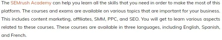SEMrush Academy SEO Course Review SEMrush Academy Reviews
