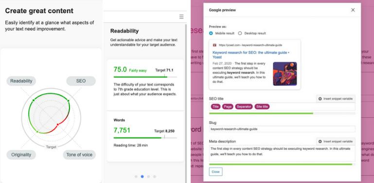 semrush vs yoast SEO Optimization features