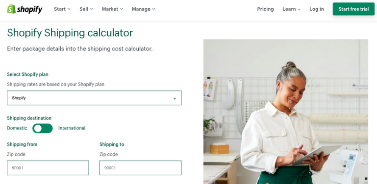 Shopify Shipping Fees calculator